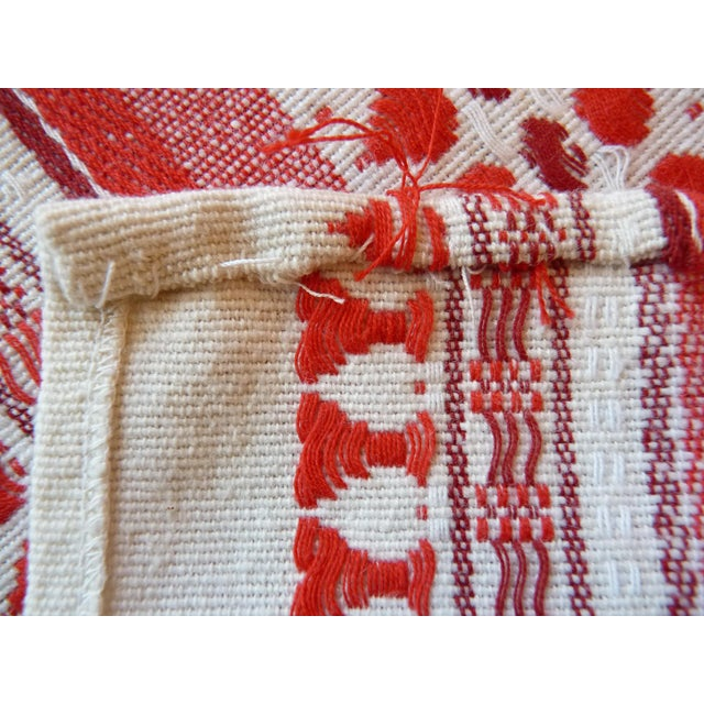 Red and White Table Runner - Image 6 of 6
