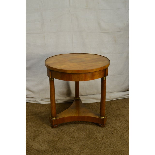 Baker Vintage French Empire Style Gueridon Round Side Table For Sale - Image 9 of 13