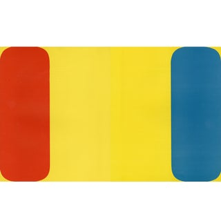 """Red Yellow Blue"", Original Lithograph by Ellsworth Kelly From ""Derriere Le Miroir No.149 - Kelly - 1964"" For Sale"