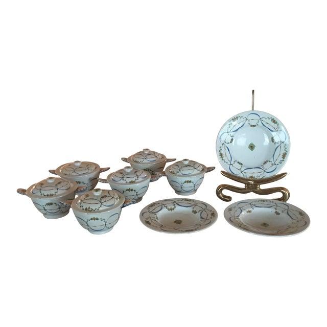 Antique Deruta Italy Pottery Dinnerware Bowls Set For Sale