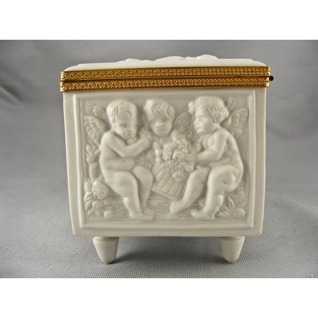 Limoges France White Bisque Dresser Box - Image 7 of 10