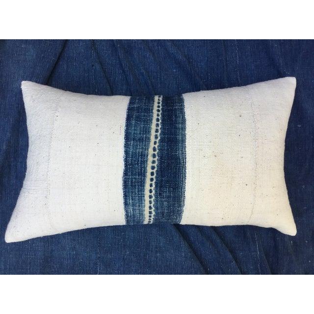 African Indigo Mud Cloth Pillow - Image 2 of 6