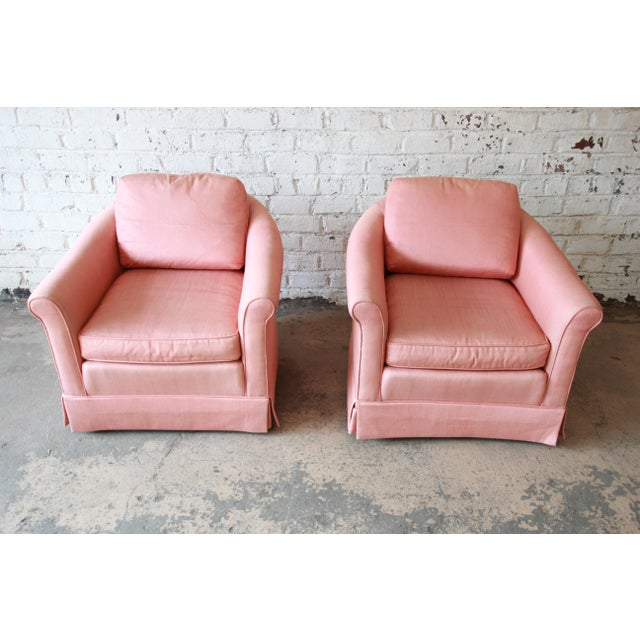 Vintage Baker Furniture Pink Lounge Chairs - a Pair