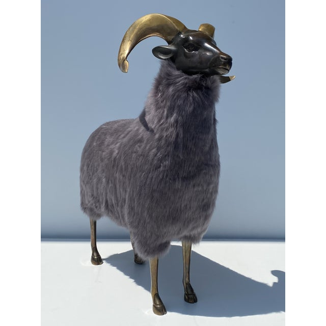 Late 20th Century Brass Sheep Sculpture In the Style of Claude Lalanne For Sale - Image 13 of 13