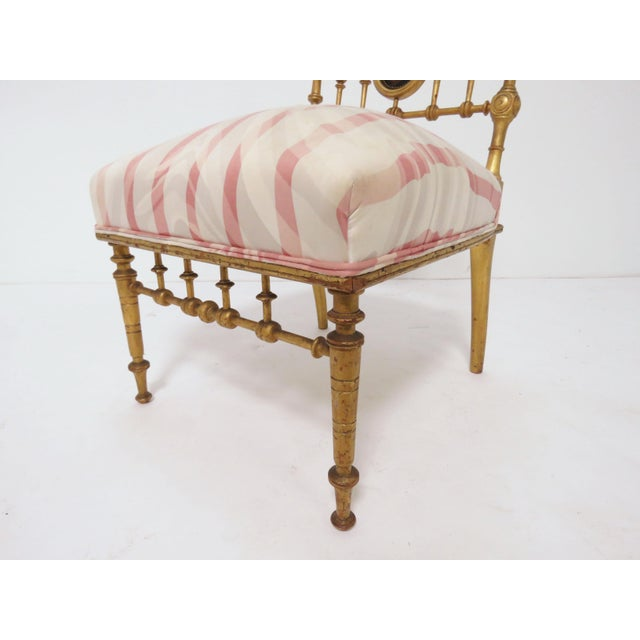 Herter Brothers Late 1800s American Aesthetic Movement Giltwood Slipper Chair For Sale - Image 4 of 13
