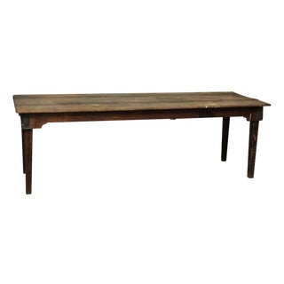 20th Century Traditional Old Wooden Work Table For Sale