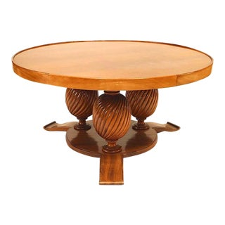1940s Art Deco Mahogany Coffee Table For Sale