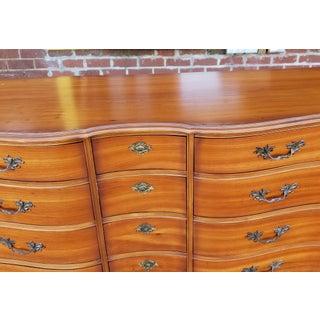 Vintage 1960s Fruitwood French Provincial Bedroom 9 Drawer Dresser Preview