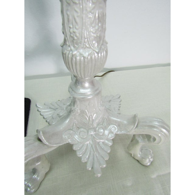 1980s 1980s Brass Lamp in Pearlescent Finish With Bell Shade For Sale - Image 5 of 7