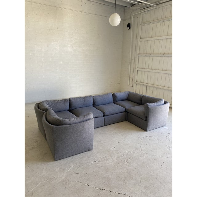 Milo Baughman Scalloped Back Modular Sectional Sofas - A Pair For Sale In Phoenix - Image 6 of 10