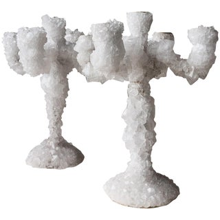Pair of Crystal Overgrown Candelabras, Mark Sturkenboom For Sale