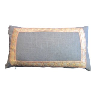 Fortuny Belgian Blue Linen Pillow For Sale