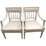 Image of 19th Century Swedish Gustavian Chairs- A Pair For Sale