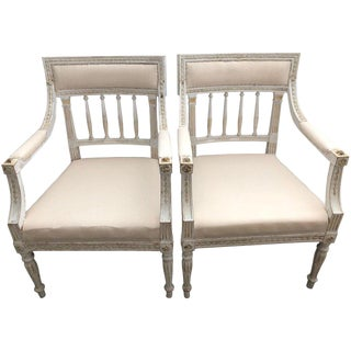 19th Century Swedish Gustavian Chairs- A Pair For Sale