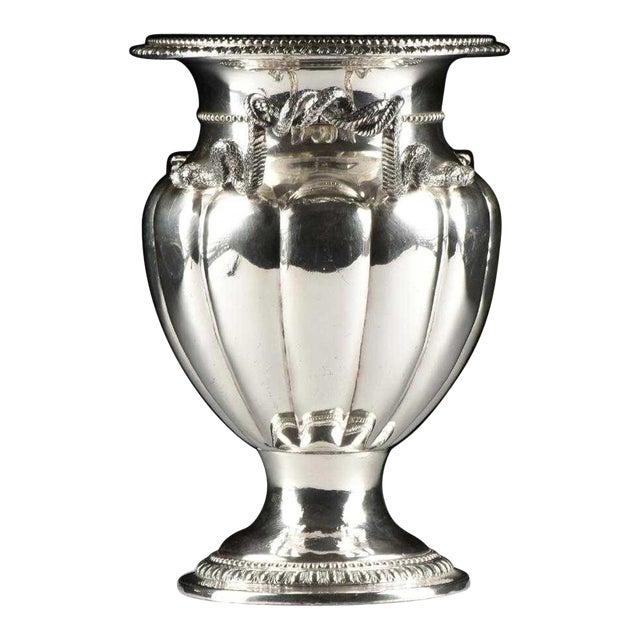 19th Century George IV Sheffield Plate Champagne Bucket For Sale
