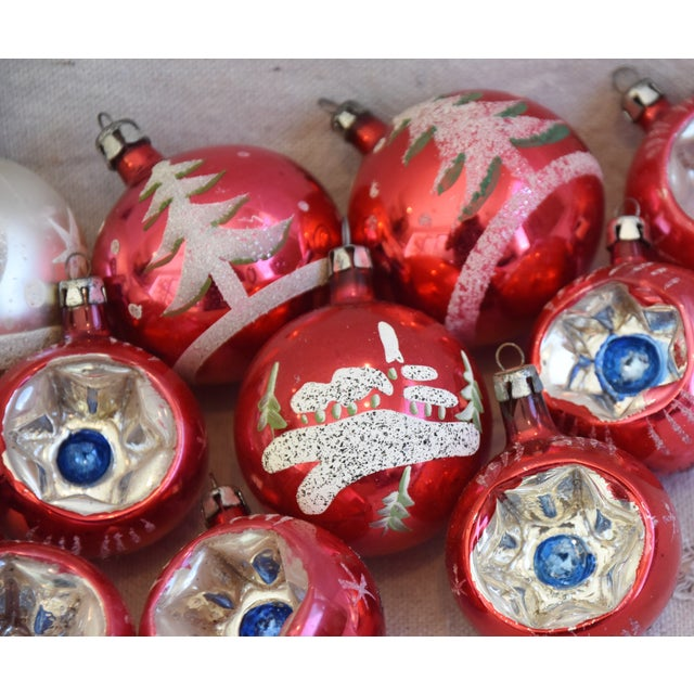 Blue Vintage Colorful Christmas Ornaments W/Box - Set of 12 For Sale - Image 8 of 10