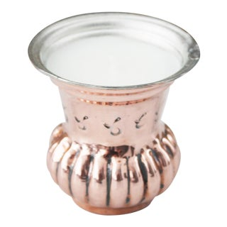 1880 Antique Copper French Jardiniere Heirloom Candle For Sale