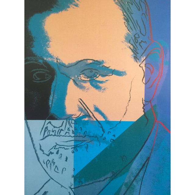 Andy Warhol Andy Warhol Sigmund Freud Original Offset Lithograph Print Poster 1980 For Sale - Image 4 of 9
