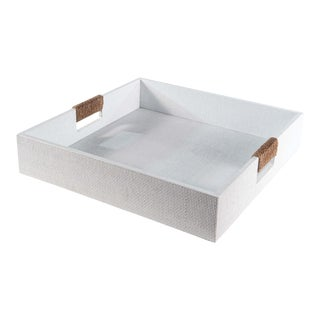 Logia Square Tray Large in White For Sale