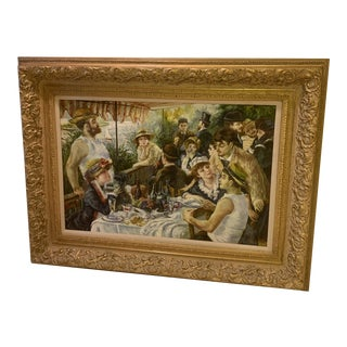 1970s Figurative Aesthetic Movement Style Oil Painting, Framed For Sale