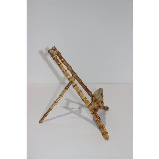 Brown Vintage Handcrafted Tabletop Display Easel Lacquered Bamboo For Sale - Image 8 of 12