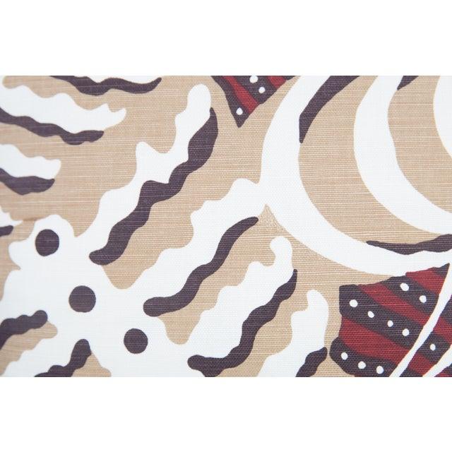Custom Rust Ferns Uni Pillows - a Pair - Image 3 of 5