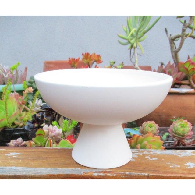 Modernist Matte Ceramic Planter - Image 4 of 8