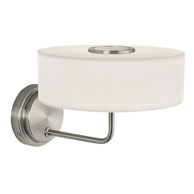 Contemporary Richmond Brushed Nickel Wall Light For Sale - Image 3 of 3