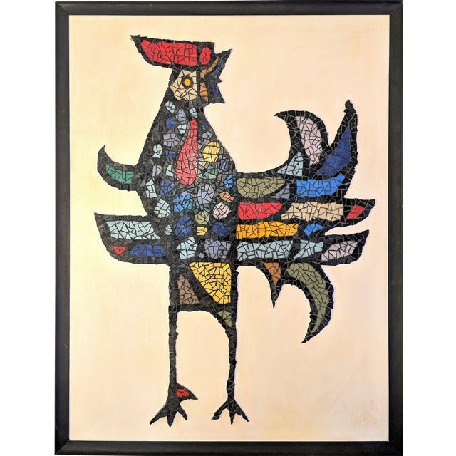 Large Mosaic Rooster Wall Art For Sale