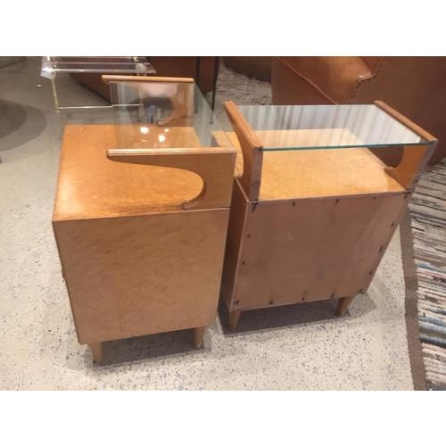 1960s Vintage Mid-Century Nightstands, France, a Pair For Sale - Image 5 of 8