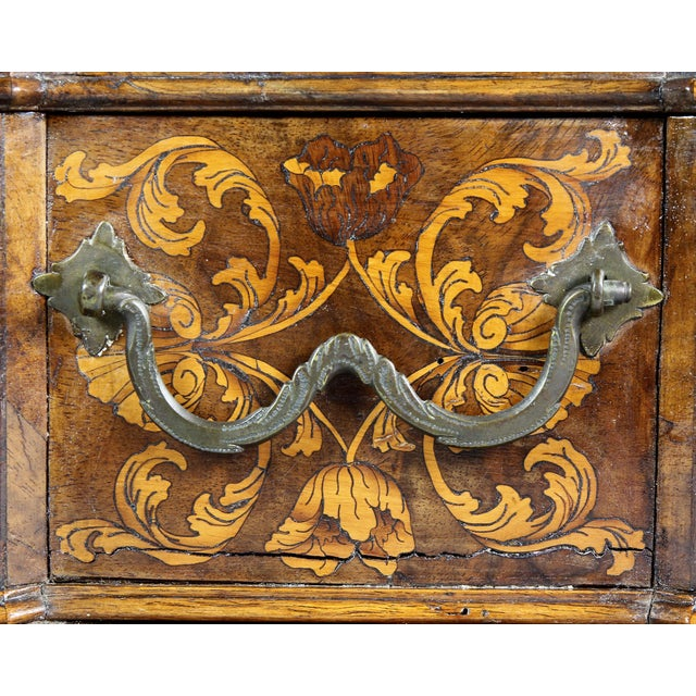 Rococo Dutch Rococo Walnut and Marquetry Document Box For Sale - Image 3 of 13