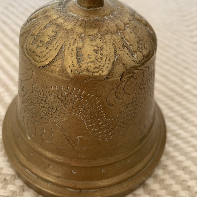 1960s Brass Bell With Etching For Sale In Washington DC - Image 6 of 13