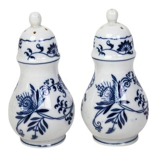 Blue Danube Blue Onion Salt & Pepper Shakers For Sale