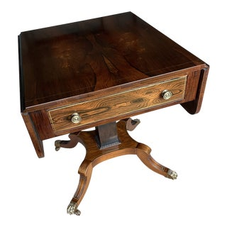 Mid-20th Century Rosewood Regency Style End Table For Sale