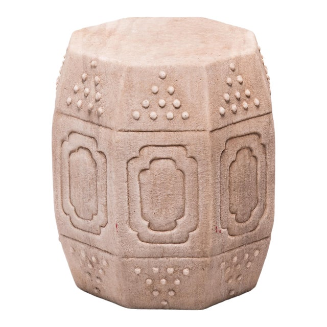 Chinese Marble Prosperity Drum For Sale