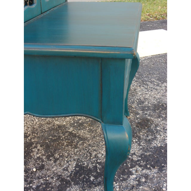Mid-Century Blue Nightstands - Pair - Image 8 of 9