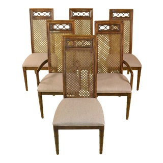 1980s Brown Dining Chairs- Set of 6 For Sale