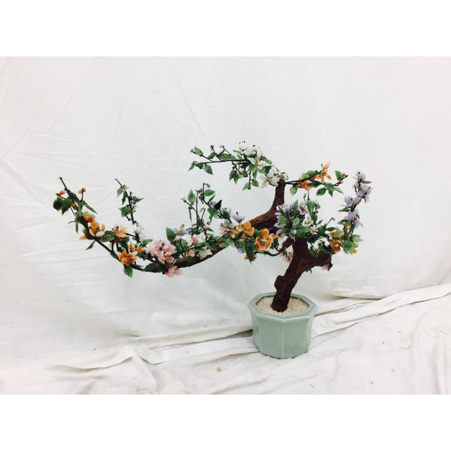 Vintage Mixed Stone Bonsai Tree Sculpture - Image 4 of 11