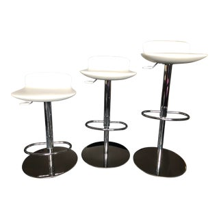 Room and Board Leo Swivel Stools- Set of 3 For Sale