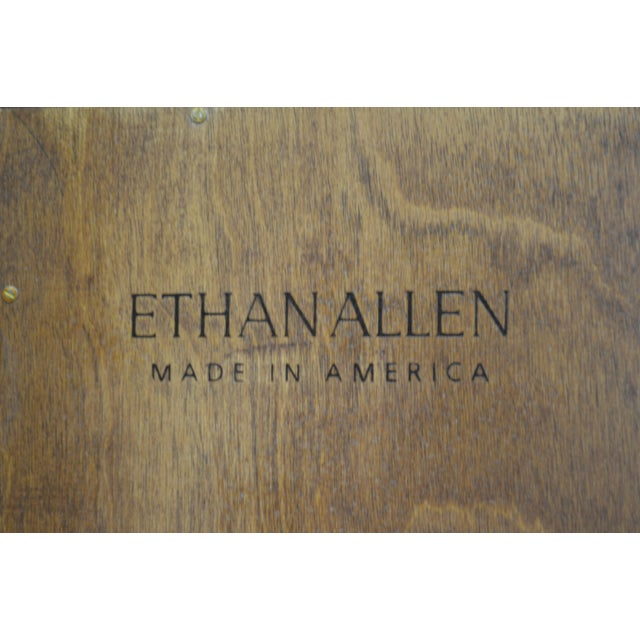 Ethan Allen American Impressions Solid Cherry Open Bookcases - A Pair For Sale - Image 9 of 10