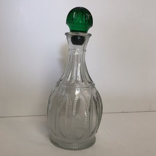 Vintage Avon Emerald Green and Glass Decanter Preview