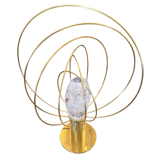 """Esperia """"Barnaba"""" Brass Table Lamp by Angelo Brotto for Esperia For Sale - Image 4 of 6"""