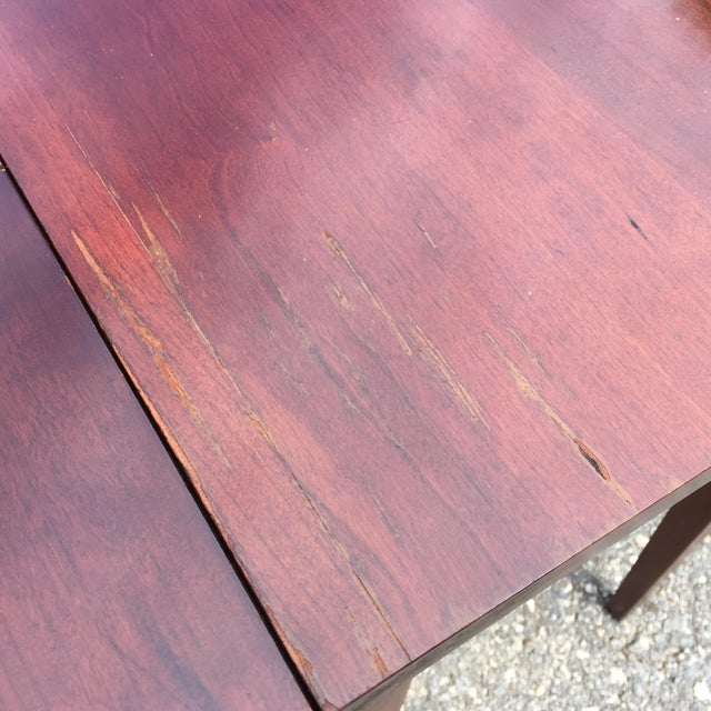 Cherry Drop Leaf End Tables - A Pair - Image 6 of 11
