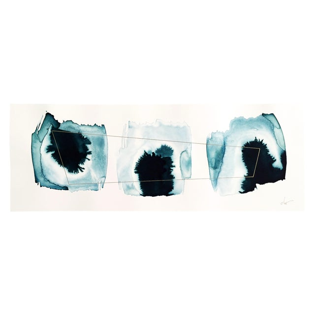 """Beth Winterburn """"Ink Palette"""" Abstract Painting - Image 1 of 4"""