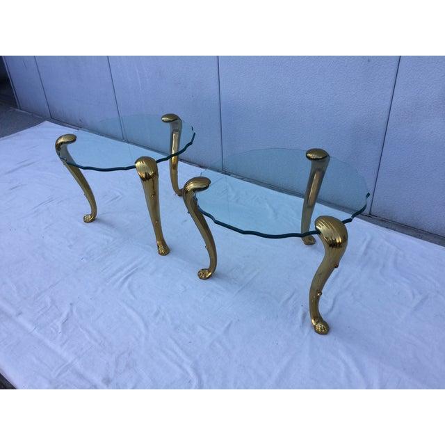1970's Modern Tripod Brass Side Tables - 2 - Image 5 of 11