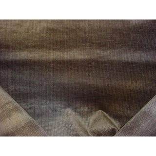 Schumacher 69774 Antique Strie Velvet Antelope Brown Upholstery Fabric - 5 Yards For Sale
