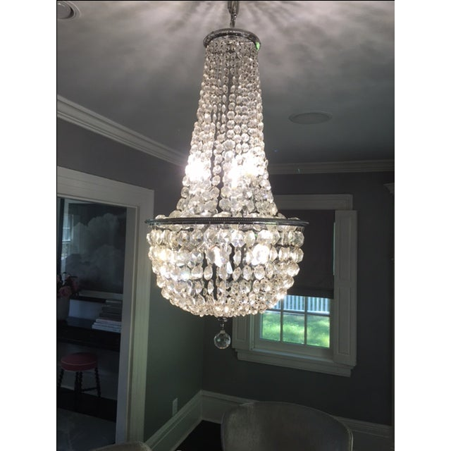 1900s Empire Crystal Chandelier - Image 5 of 11