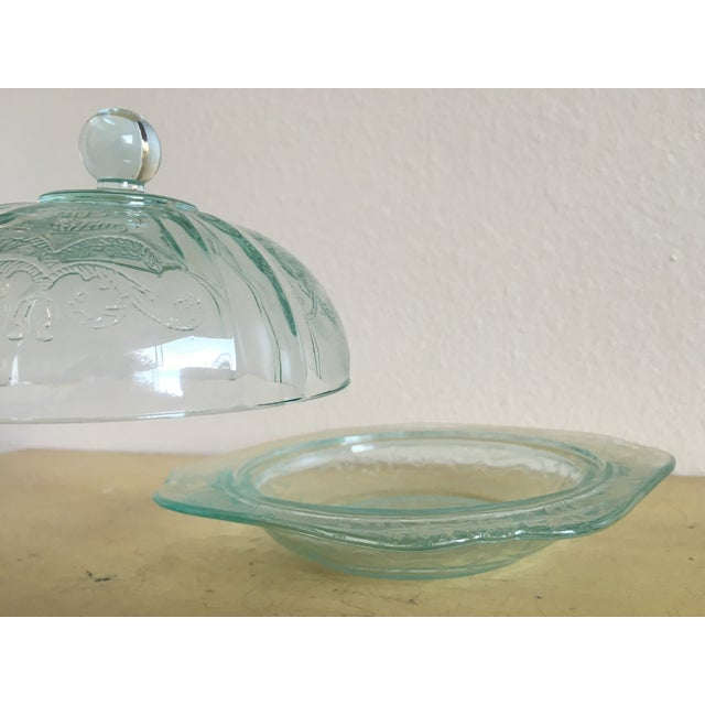 Depression Era Mint Glass Lidded Serving Dish - Image 7 of 8