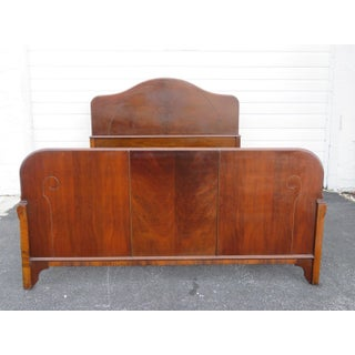 Art Deco Walnut Full Size Bed Preview