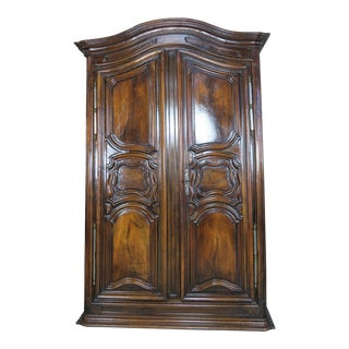 18th Century French Walnut Armoire For Sale